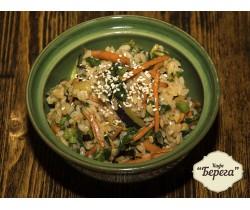 Рис жаренный с зеленью
